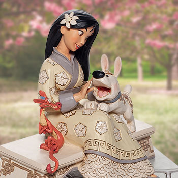 White Woodland Mulan Figurine