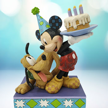 Pluto & Mickey Birthday Figurine
