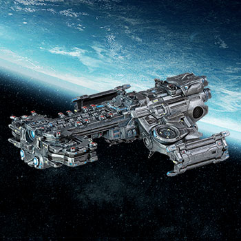Terran Battlecruiser Ship Replica