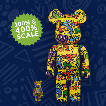 Be@rbrick Keith Haring #5 100% and 400% Collectible Set