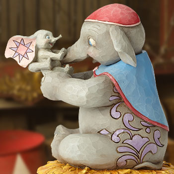 Mrs. Jumbo and Dumbo Figurine