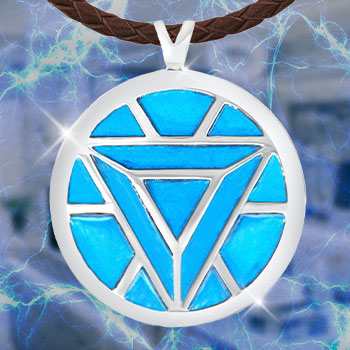 Iron Man's Arc Reactor Necklace (Turquoise) Jewelry
