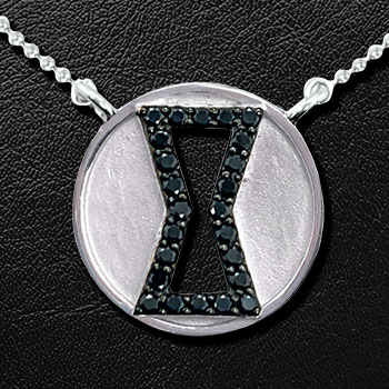 Black Widow Black Diamond Necklace Jewelry