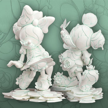 Mickey Mouse and Minnie Mouse 90th Anniversary Edition Statue