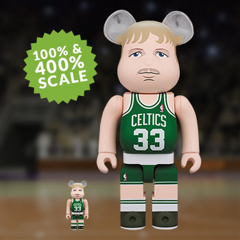 Be@rbrick Larry Bird (Boston Celtics) 100% and 400% Collectible Set