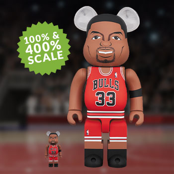 Be@rbrick Scottie Pippen (Chicago Bulls) 100% and 400% Collectible Set