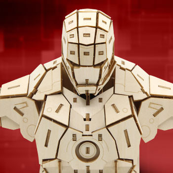Iron Man Signature Series 3D Wood Model Model Kit