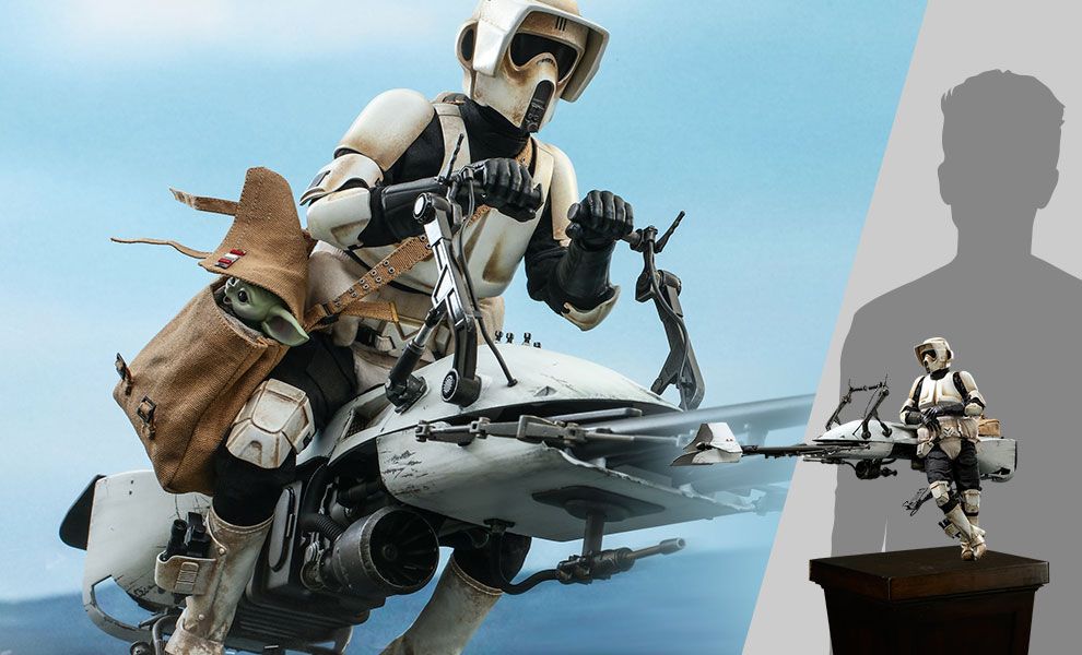 Scout Trooper and Speeder Bike Sixth Scale Figure Set