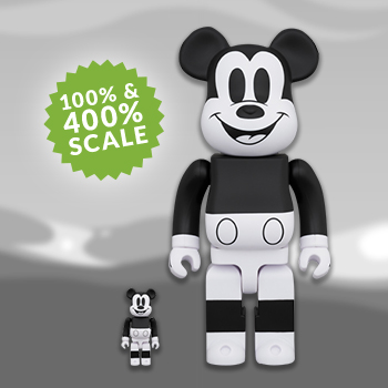 Be@rbrick Mickey Mouse (Black & White 2020 Version) 100% & 400% Collectible Set