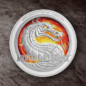 Mortal Kombat 1oz Silver Coin Silver Collectible
