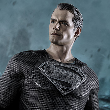 Superman (Black Suit Version) Statue