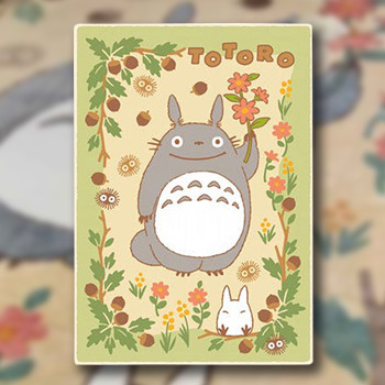 Totoro in the Sunny Forest Plush Blanket Blanket