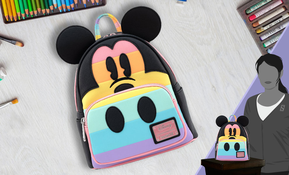 Mickey Mouse Pastel Rainbow Mini Backpack Apparel