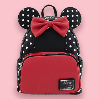 Minnie Mouse Black & White Polka Dot Mini Backpack Apparel