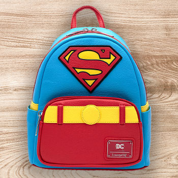 Vintage Superman Cosplay Mini Backpack Apparel
