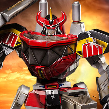 Megazord (Battle Damaged Version) Statue