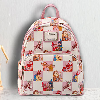 Disney BFF Character Rose Checker Mini Backpack Apparel