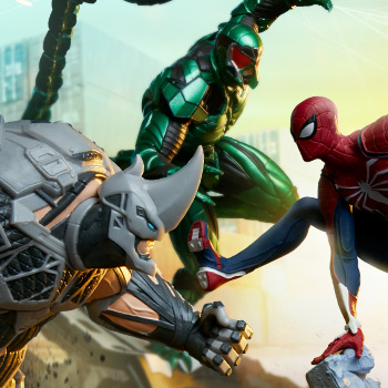 Spider-Man/Rhino/Scorpion Collectible Set