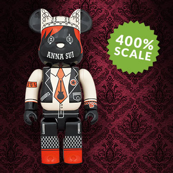 Be@rbrick Anna Sui Red & Beige 400% Collectible Figure