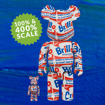 "Be@rbrick Andy Warhol ""Brillo"" 100% & 400% Collectible Set"