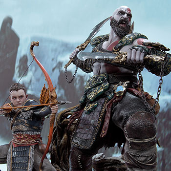 Kratos & Atreus Ivaldi's Deadly Mist Armor Set (Deluxe Version) Statue