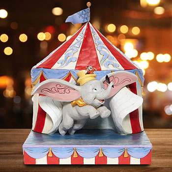 Dumbo Flying Out of Tent Scene Figurine