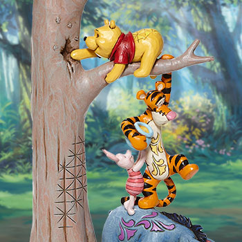 Tree with Pooh and Friends Figurine