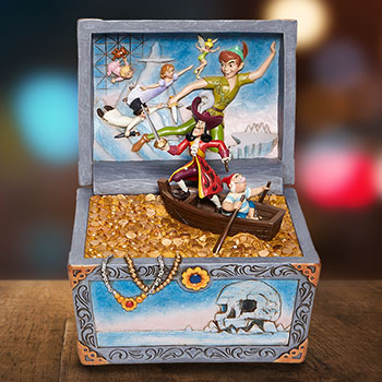 Peter Pan Treasure Chest Scene Figurine