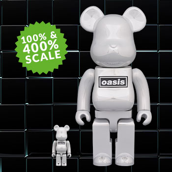 Be@rbrick Oasis White Chrome 100% & 400% Collectible Set