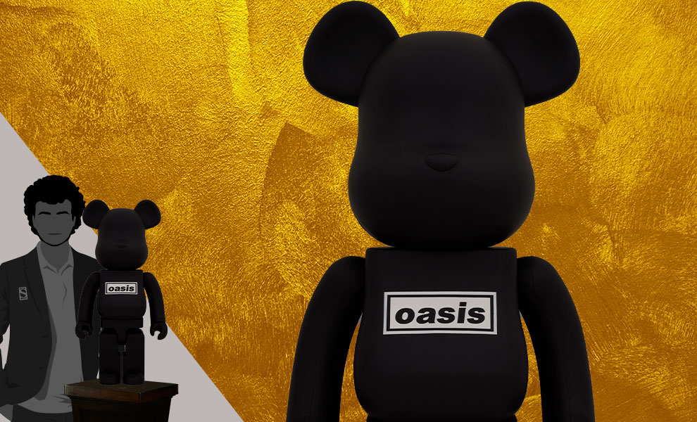 Be@rbrick Oasis Black Rubber Coating 1000% Collectible Figure