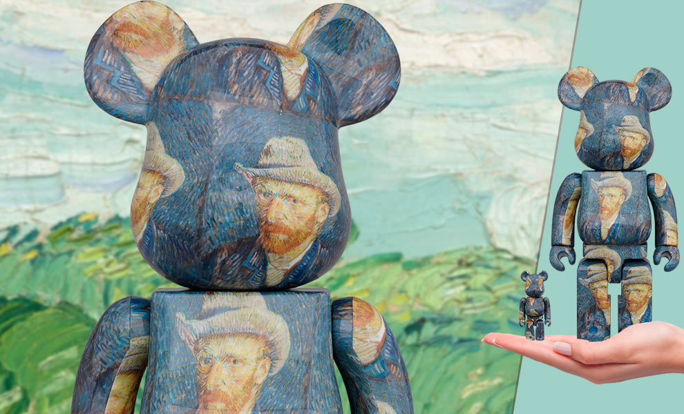 Be@rbrick Van Gogh Museum Self Portrait 100% and 400% Collectible Set
