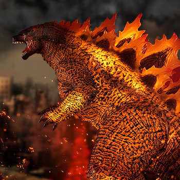 UA Monsters Burning Godzilla Collectible Figure