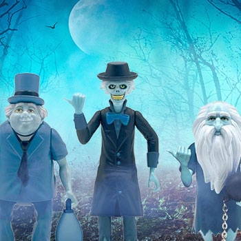 The Haunted Mansion ReAction Hitchhiking Ghosts 3-Pack Collectible Set