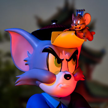 Tom and Jerry Chinese Vampire Collectible Figure