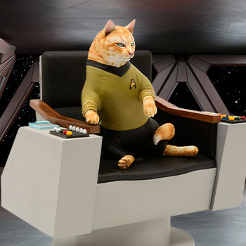 James T. Kirk Cat Statue