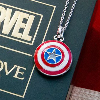 Captain America Shield Necklace Jewelry