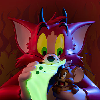 Tom and Jerry (Devil Version) Bust