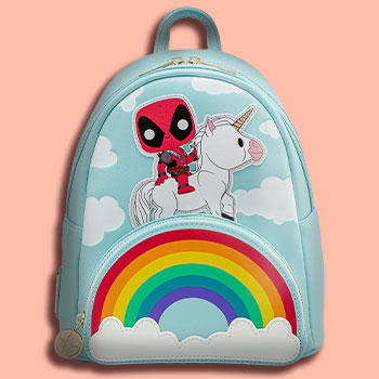 Deadpool 30th Anniversary Unicorn Rainbow Mini Backpack Apparel