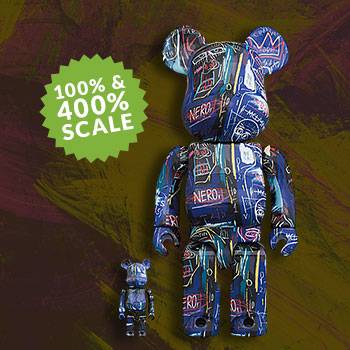 Be@rbrick Jean Michel Basquiat #7 100% & 400% Collectible Set