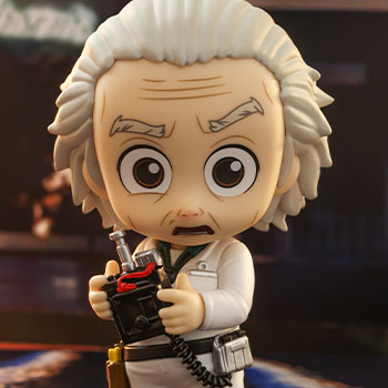 Doc Brown Cosbaby(S) Collectible Figure