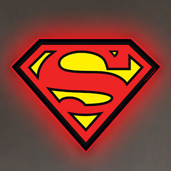 Superman LED Logo Light (Regular) Wall Light