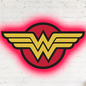 Wonder Woman LED Logo Light (Regular) Wall Light