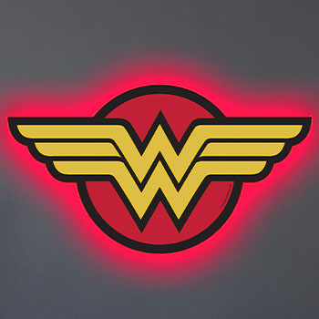 Wonder Woman LED Logo Light (Large) Wall Light