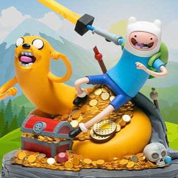 Adventure Time Jake and Finn Polystone Statue