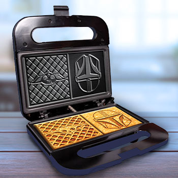 The Child and Mandalorian Dual Square Waffle Maker Kitchenware