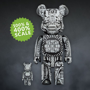 Be@rbrick H.R. Giger (Black Chrome Version) 100% & 400% Collectible Set