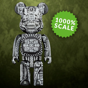 Be@rbrick H.R. Giger (Black Chrome Version) 1000% Collectible Figure