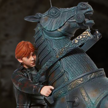 Ron on Chess Horse Figurine