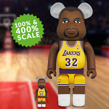 Be@rbrick Magic Johnson (Los Angeles Lakers) 100% and 400% Collectible Set