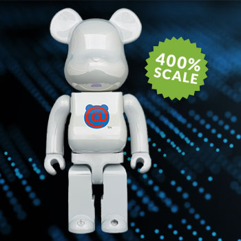 Be@rbrick 1st Model White Chrome 400% Collectible Figure